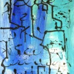 "Blue - mixed media on canvas - 12""x9"" - 2014 - $215"