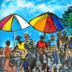 Market - mixed media on canvas sheet - 26'' x 19' - 2010 - $350