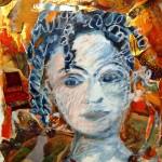 Portrait d'enfant - mixed media on paper - 22'' x 16.5'' -  2012 - $415