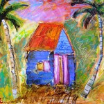 Van Gogh' s shack - mixed media - 2009