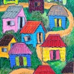 Cases creoles - oil pastels - 2011