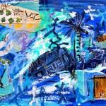 Un jour avec Matisse - mixed media on paper - 8'' x 11.5'' - 2012- $165