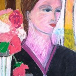 Jacqueline - mixed media on paper - 20'' x 16'' - 2011 -  $385