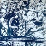Le Penseur - acrylic on paper - 20'' x 16'' - 2010 - $275