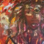 Mystic man - mixed media on canvas - 32'' x 24'' - 2011 - $1350