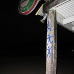 Tags under the full moon by Johnnos in Sandy ground, Anguilla