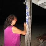 Me tagging under the moon light.