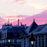 Sunset sur les toits de Paris.