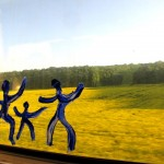 Paris Deauville , on the window : the B's blue men