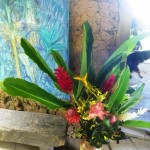 Bouquet in the art gallery